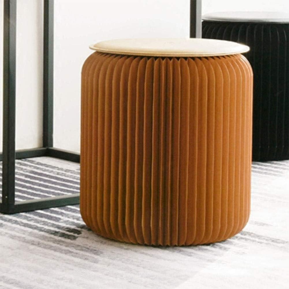 Chambre /À Coucher,Marron HKDJ-Tabouret Pliant en Carton Capacit/é De Charge 300 Kg Structure Hexagonale en Nid dabeille pour Le Salon