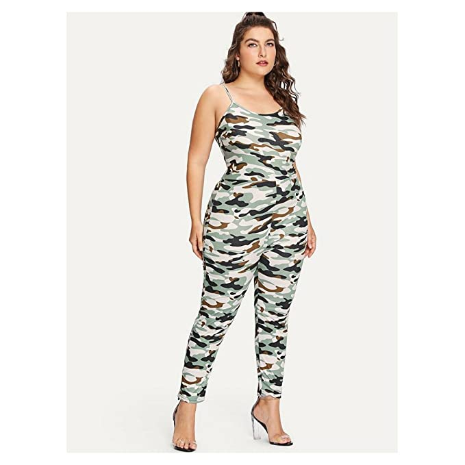23cba4936ba5 Tutti Stagioni Camo Print Skinny Cami Jumpsuit for Women  Amazon.ca   Clothing   Accessories