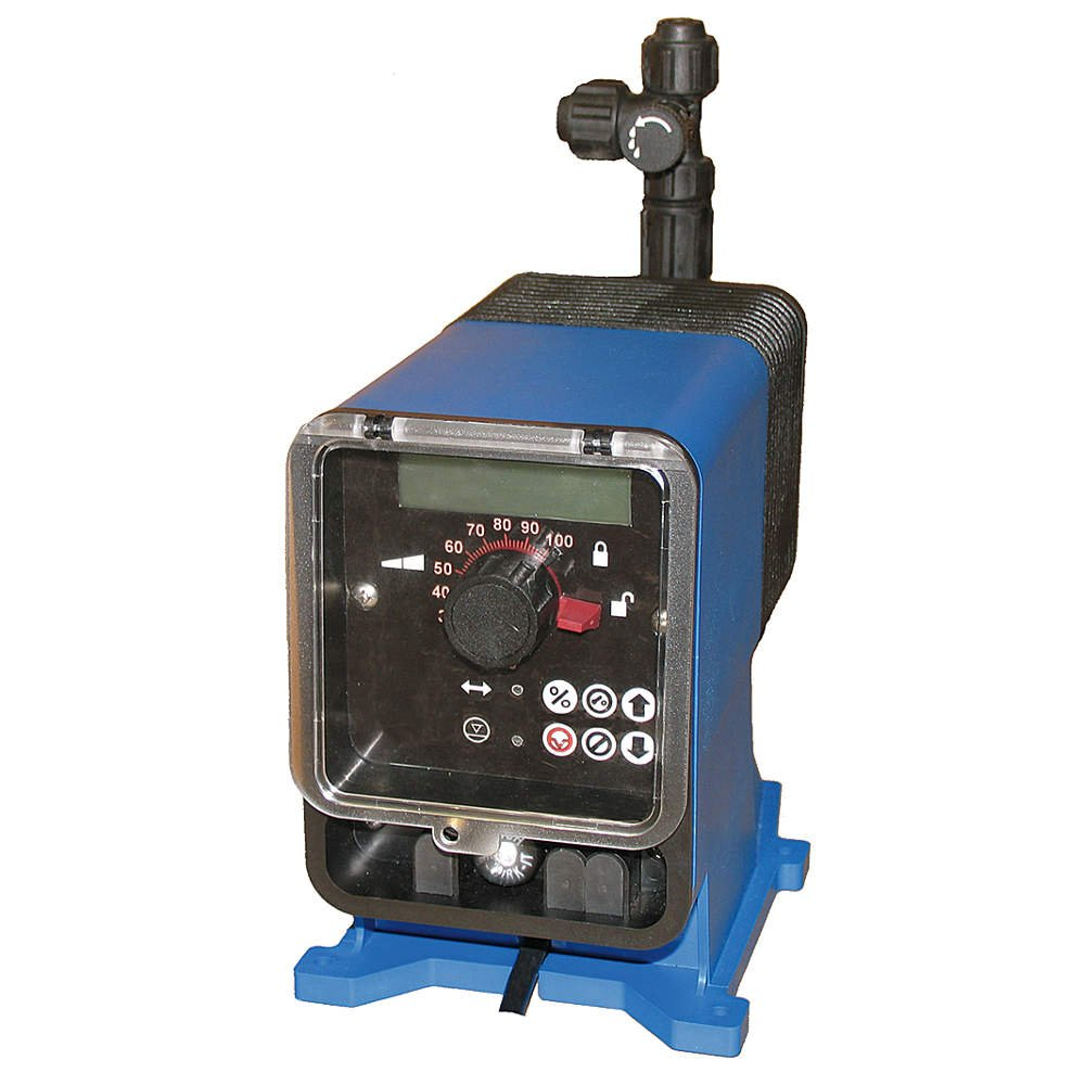 Pulsafeeder LME4TA-PTC1-G19 100 psi 115VAC 44.00 GPD Max Adjustable Output Diaphragm Chemical Metering Pump Flow