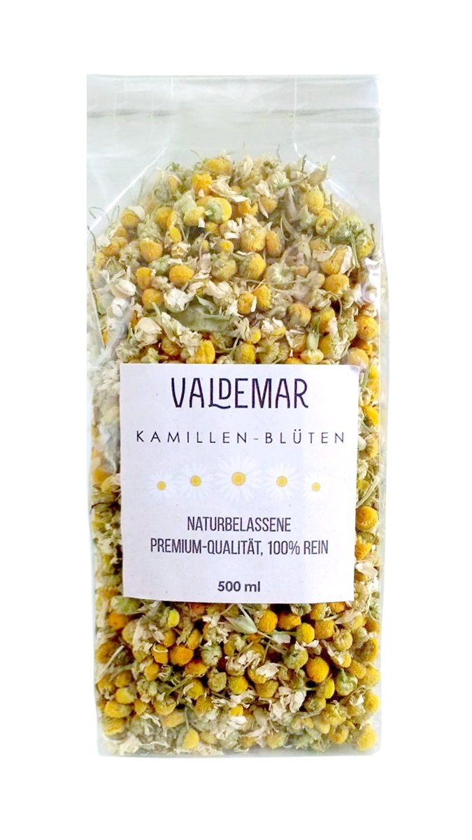 Manzanilla de flores–500ml Premium de calidad, sortenrein y 100% zusatzfre–mejors Color y aroma. Valdemar Manufaktur