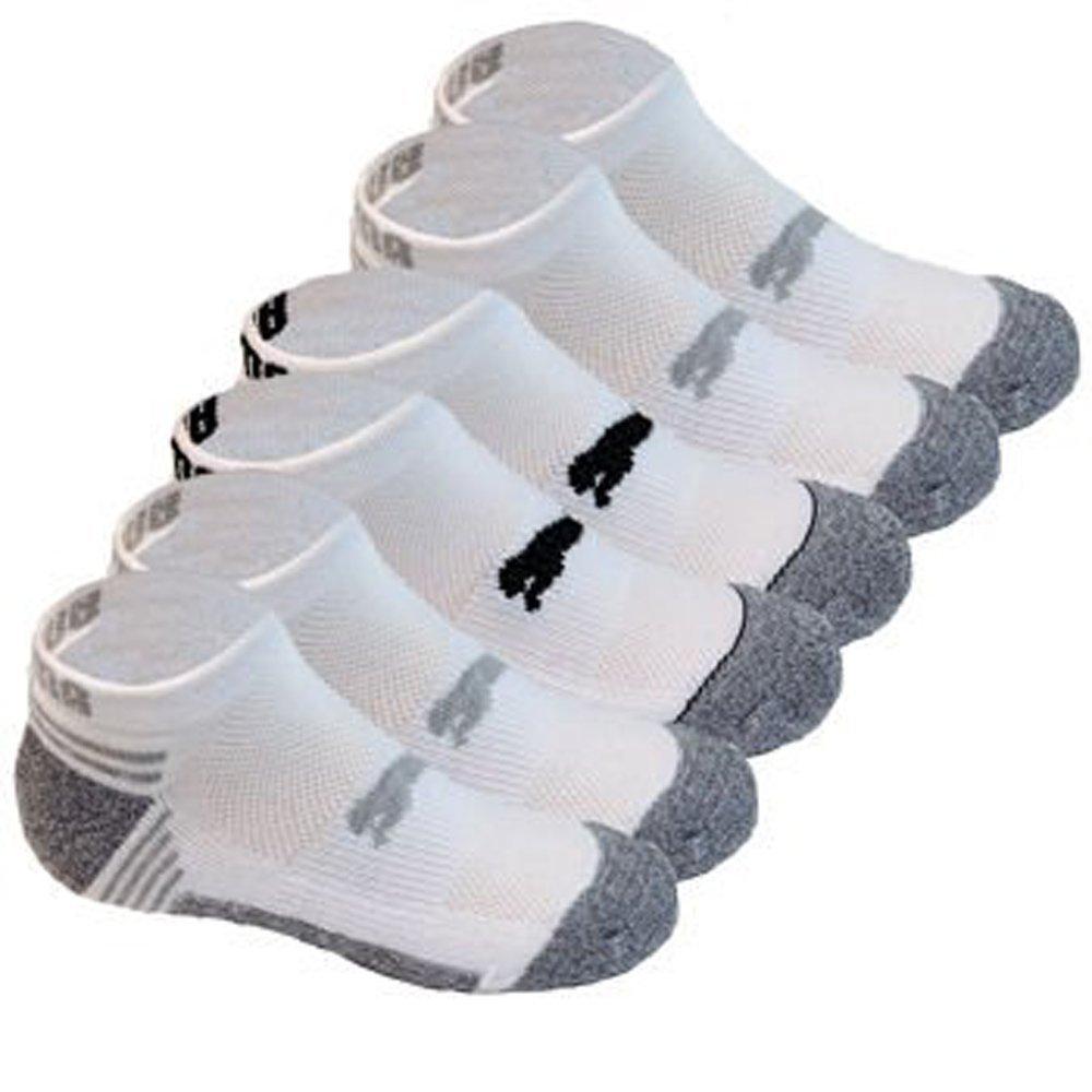 PUMA Kids All Sport Cushioned Low Cut Socks - 6 Pack Shoe Size 9-3.5 (White/Gray/Black)