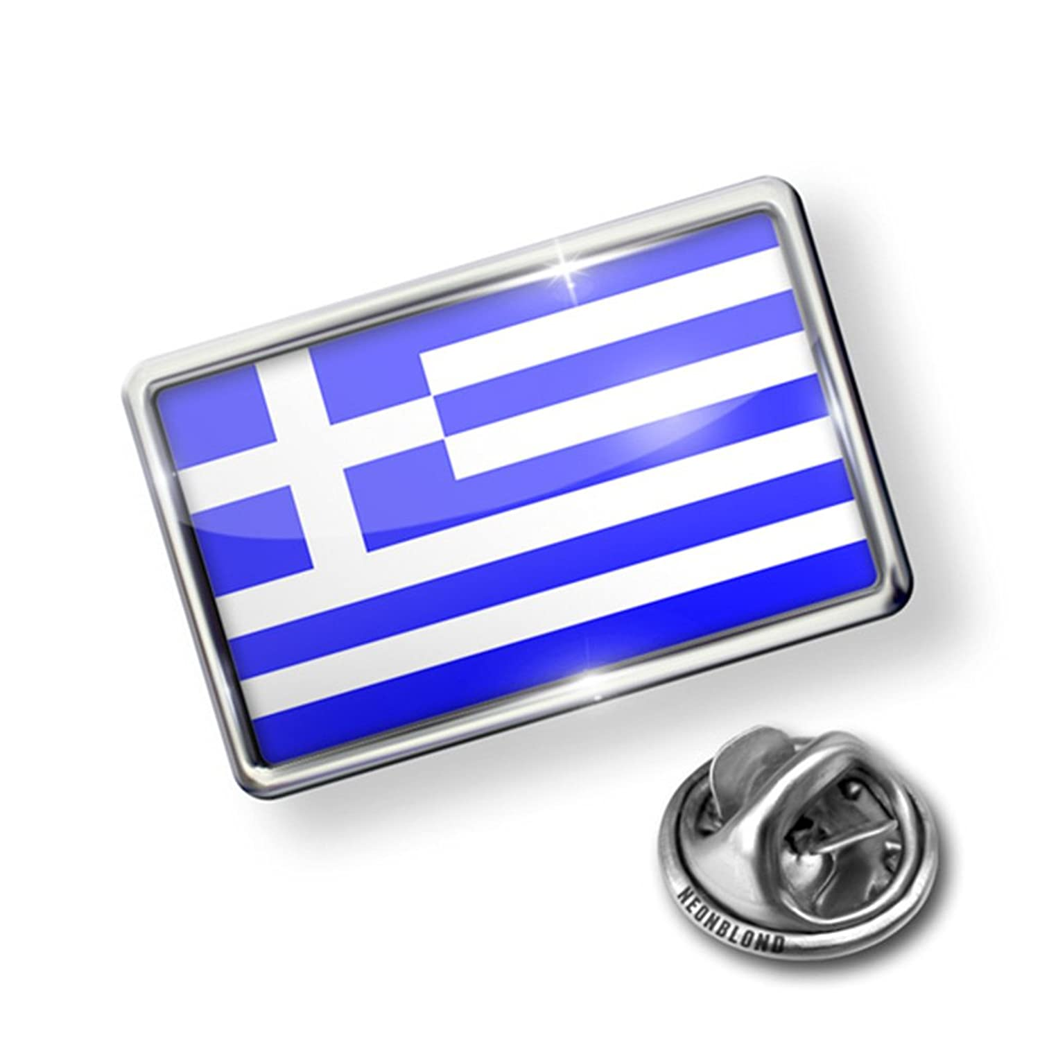 Pin Greece Flag - Lapel Badge - NEONBLOND