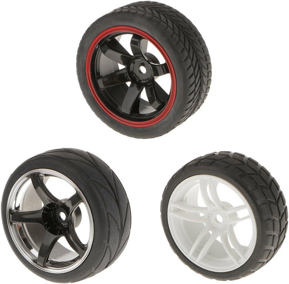 4 Pcs Llantas Neumáticos con Anchura de Rueda para RC 1/10 Carros
