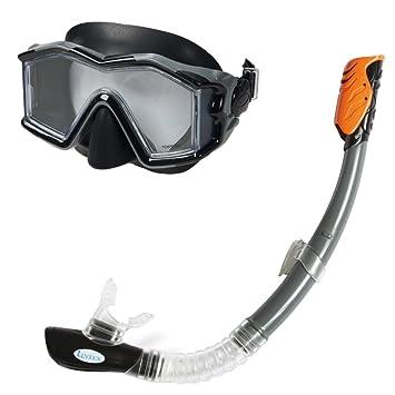 Intex 55961 - Explorer Pro Mask with Snorkel, Black  Amazon.co.uk ... 661176fad9