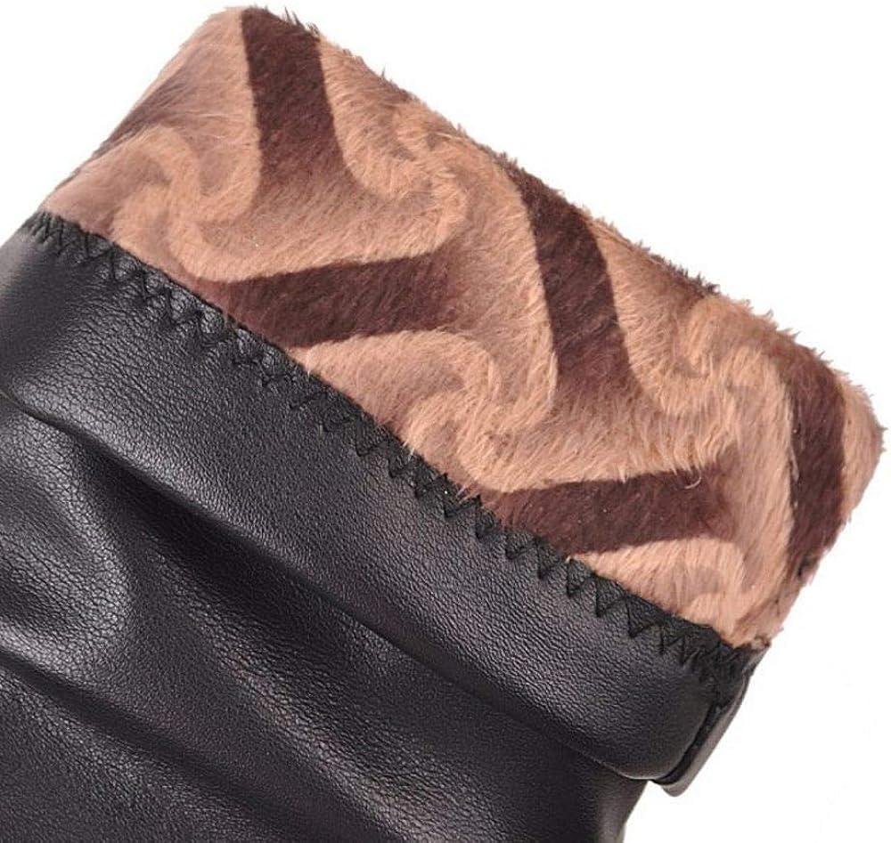 Zanpa Women Fashion Block Heels Ankle Boots Sweater Booties Pull On