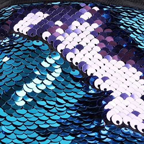 YIZYIF Bolso de Mano Bolso de Embrague Bolsos de Noche Mujer Monedero Bolsa de Maquillaje Lentejuelas Boda Fiesta Ceremonia Azul&Morado