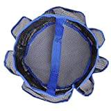 THANYA Shower Caddy Mesh 8 Pocket Portable Quick Dry Blue