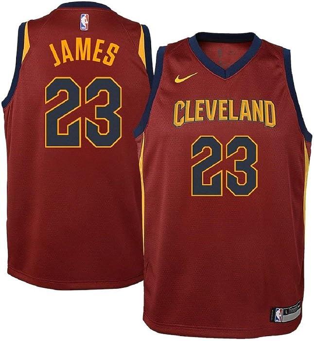 Nike Lebron James Cleveland Cavaliers NBA Youth Burgundy Road Dri-Fit  Swingman Icon Jersey 10d4ec700