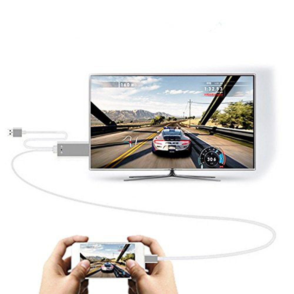 C-zone 3in1 USB 2.0 to HDMI HDTV HD Mirroring Adaptor Cable for IPhone8X/IPhone8/7/7plus/Samsung galaxy S9/S9+ OPPO A3  R15 VIVO X21 X20 Y85 Y83 ASUS Google Mobile Phone