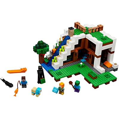 LEGO Minecraft The Waterfall Base 21134: Toys & Games