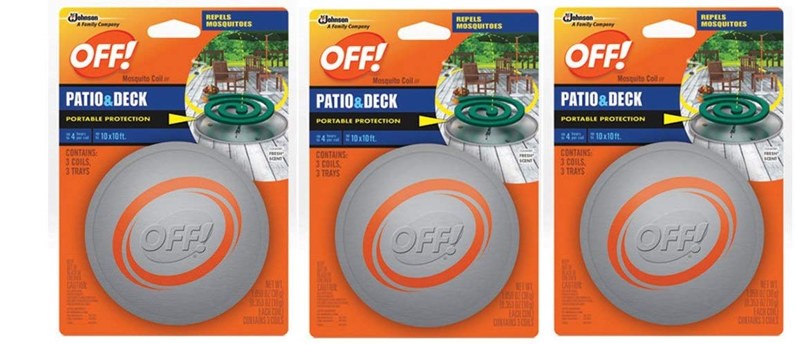 SC Johnson Off! Patio and Deck Coil Tin (Pack - 3)