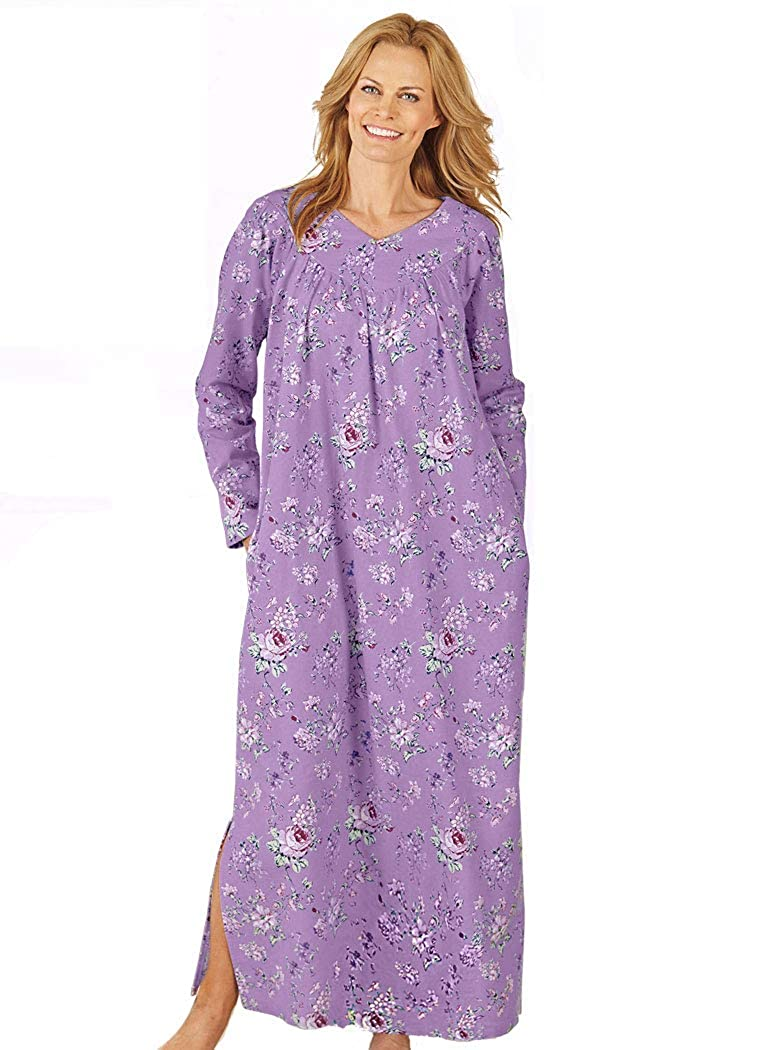 AmeriMark Floral Flannel Gown 058399