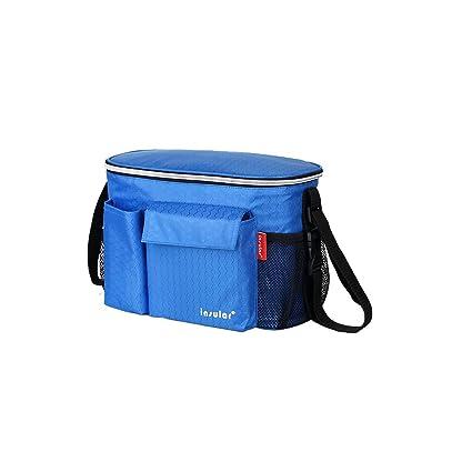Remelon - Bolso cambiador de pañales con cinturón de hombro, ganchos universales de fijación para