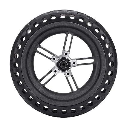 Alomejor Neumático sólido del reemplazo de la Rueda del neumático de la Vespa del neumático de la Vespa del neumático para el Scooter eléctrico de ...