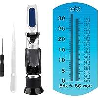 Brix Refractometer for Homebrew Beer Wort Refractometer, Dual Scale Beer Refractometer Specific Gravity 1.000-1.120 and…