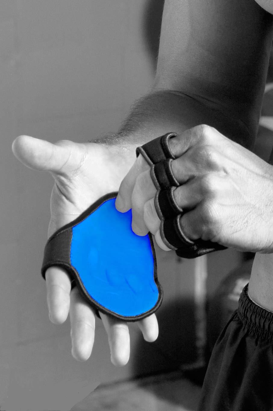 El Mejor Guante para Levantar Pesas no es un Guante! Guantes Antideslizantes para 4 dedos.(Azul): Amazon.es: Deportes y aire libre