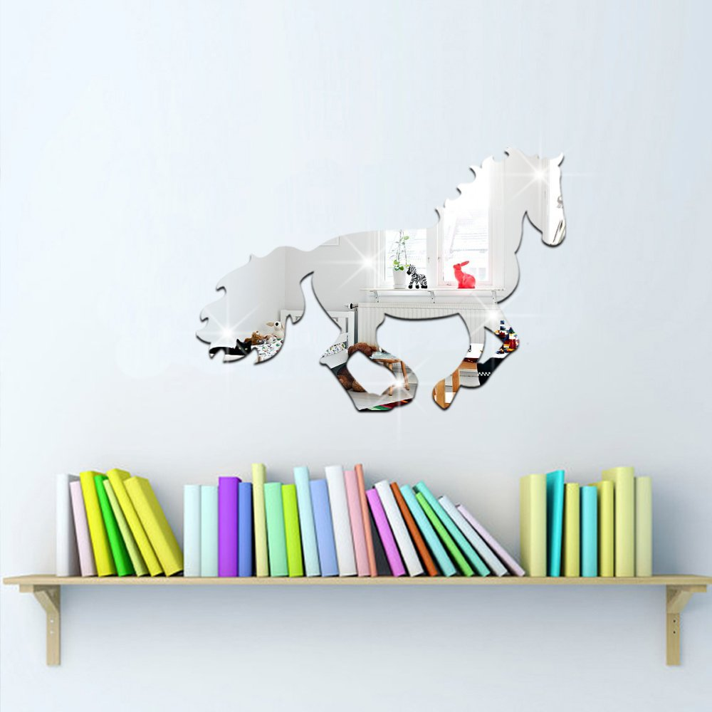 Kids acrylic mirror horse kids room decal art mural wallpaper wall kids acrylic mirror horse kids room decal art mural wallpaper wall decal wall sticker amazon amipublicfo Image collections