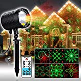Laser Christmas Lights,20 Colorful Patterns+RG Laser Starry Show with RF Remote Control for Indoor&Outdoor Halloween,Thanksgiving,Christmas Decoration