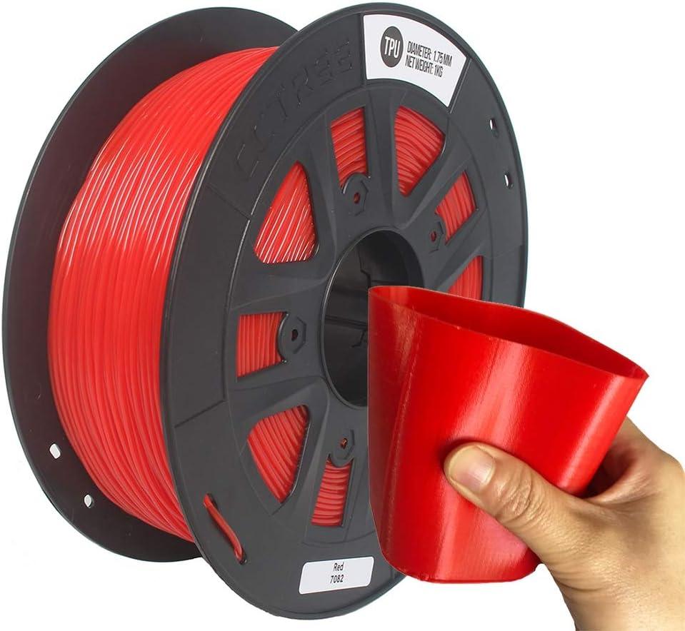 CCTREE - Filamento Flexible para Impresora 3D (1,75 mm, TPU, 0,05 ...