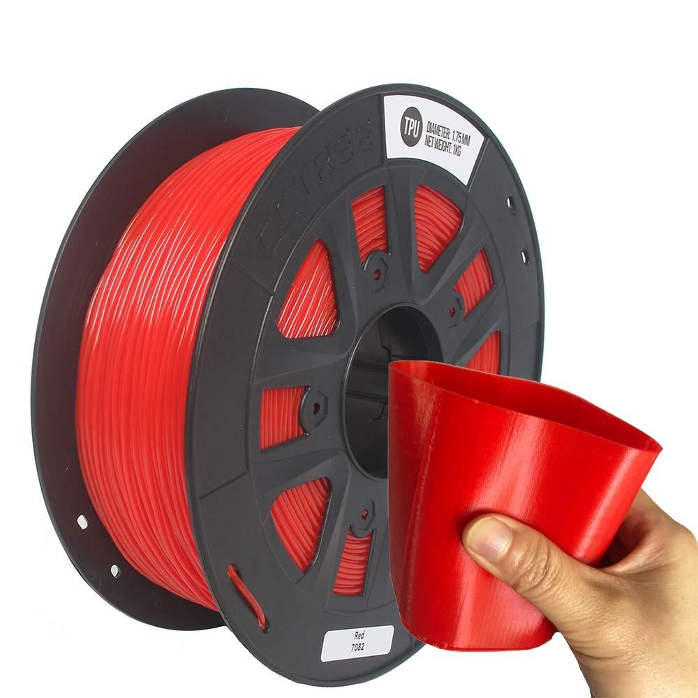 CCTREE - Filamento Flexible para Impresora 3D (1,75 mm, TPU ...
