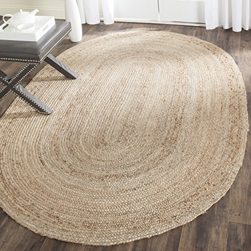 Safavieh Cape Cod Collection CAP252A Hand Woven Natural Jute Area Rug (3' x 5') Oval Kitchen Rugs