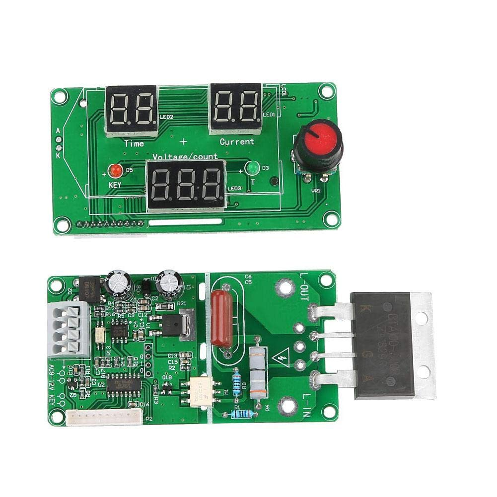 100A Spot Welder Control 100A//40A Digital LCD Single Pluse Encoder Spot Welder Machine Time Control Board Digital Display Controller Board