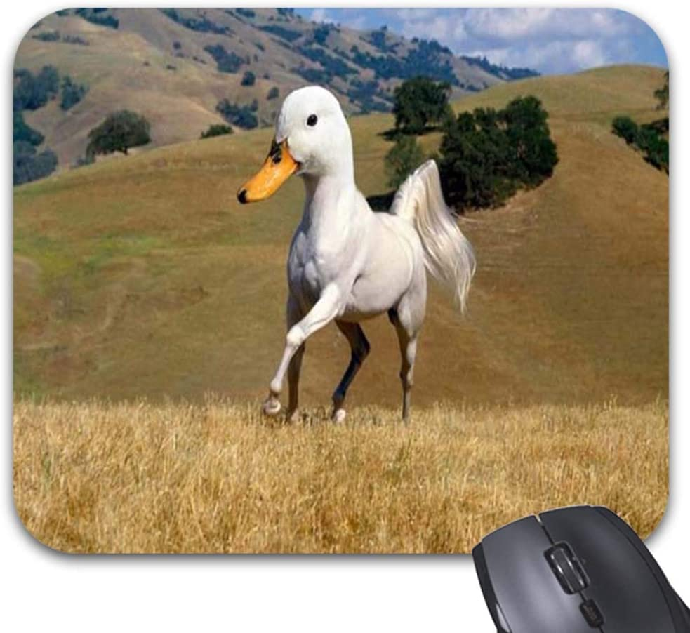 Hybrid Duck Horse Mouse Pad Stylish Office Computer Accessory -11.8 X 9.7in
