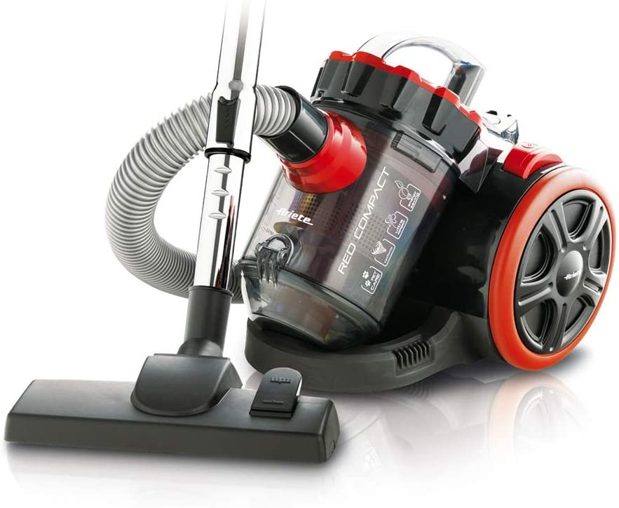 Ariete Compact Bagless Vacuum Cleaner, 1200W, Black/Red, 2743/9