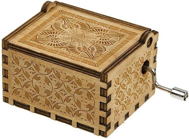 LPxdywlk Caja De Música con Manivela De Madera Manualidades DIY Caja De Música Tallada Decoración del Hogar Adornos Juguetes para Niños Regalo: Amazon.es: Hogar