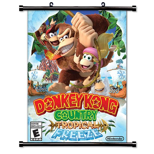 Donkey Kong Country Tropical Freeze Game Fabric Wall Scroll Poster  16X20  Inches