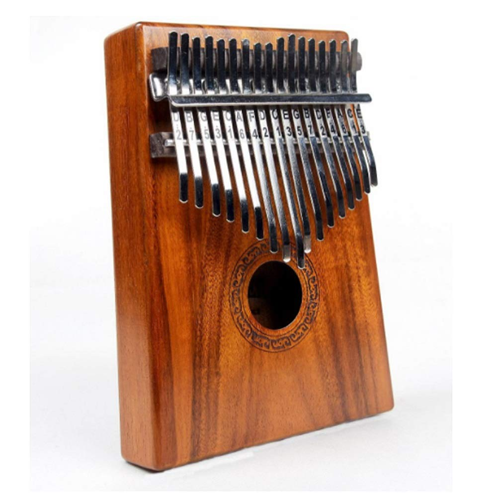 Monkibag-MC Thumb Piano 17 Keys Kalimba African Mbira Sanza Wood Thumb Piano Standard C Tune Finger Piano Metal Tines with Tuning Hammer Kids Musical Instrument Gifts Music Lovers Beginners