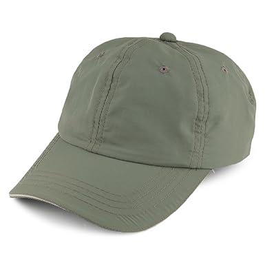 Dorfman-Pacific Hats Unstructured Nylon Baseball Cap - Olive Adjustable 64e455ee0ad
