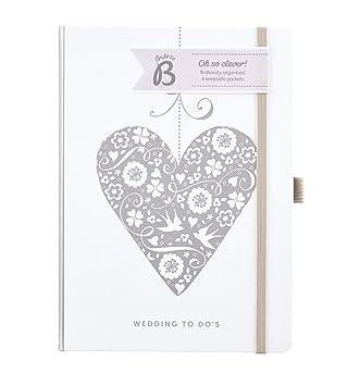 Busy B - Libro de Notas para Boda, diseño de corazón ...