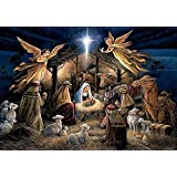 5D Diamond Painting Kit, DIY Rhinestone Embroidery Cross Stitch Arts Craft for Home Wall Decor 11.8 * 15.7 inch (30 * 40 cm) Angel Home