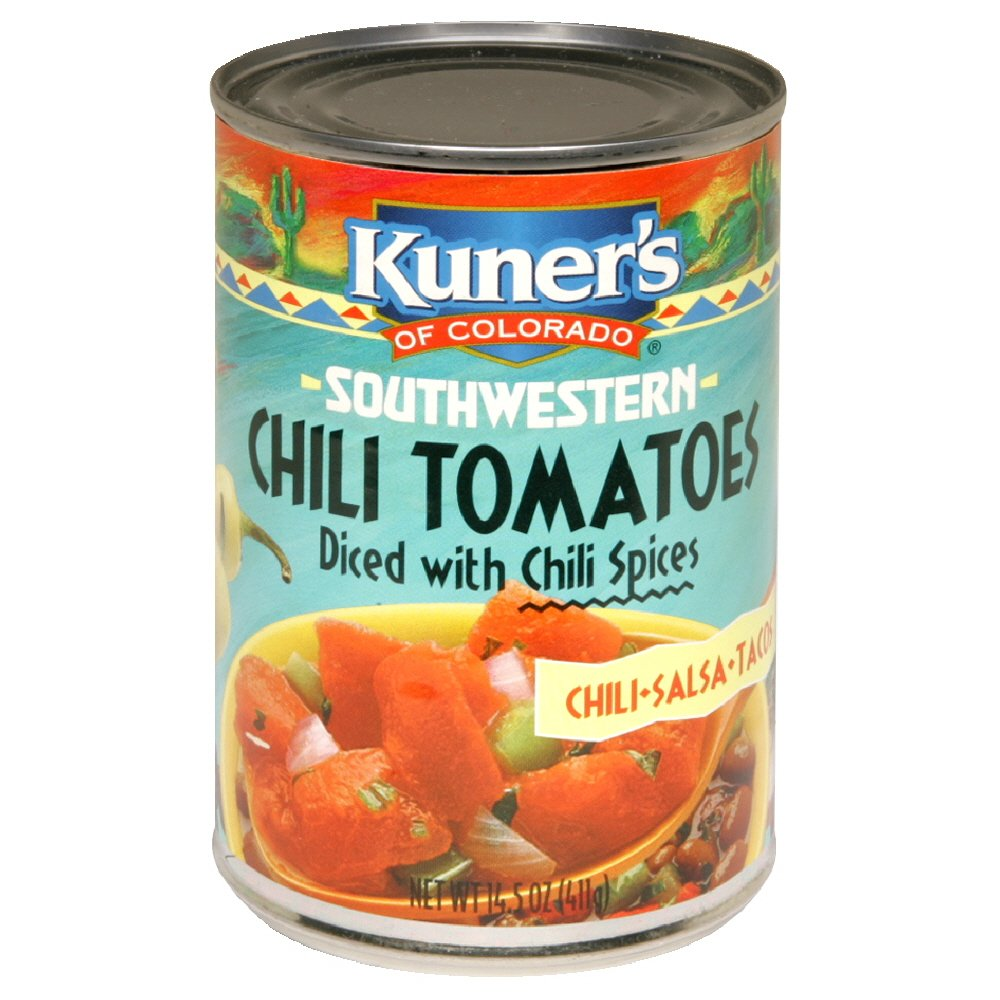 Kuner's Chili Tomatoes, 14.5-Ounce (Pack of 12)