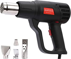 Heat Gun 2000w Temperature ControlGun with 2 Temp Settings 140℉-1112℉,Hot Air Gun with 4 Nozzles for Crafts, Shrinking PVC, Stripping Paint