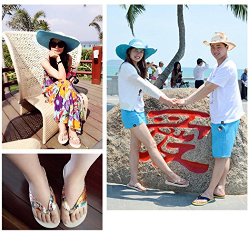 Womens Flip Flops, Fascigirl Thong Sandalen Bohemien Dikke Bodem Antislip Zomer Beach Slippers Beige S