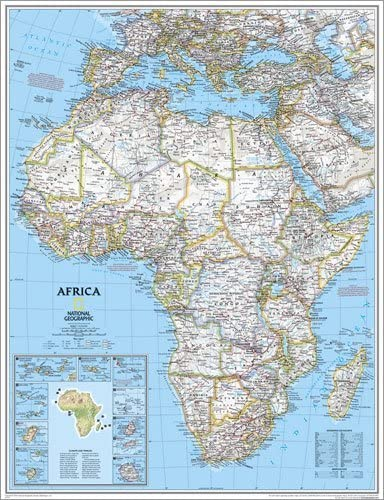 Map Of Africa National Geographic Amazon.com: National Geographic Maps Africa Classic Wall Map Map