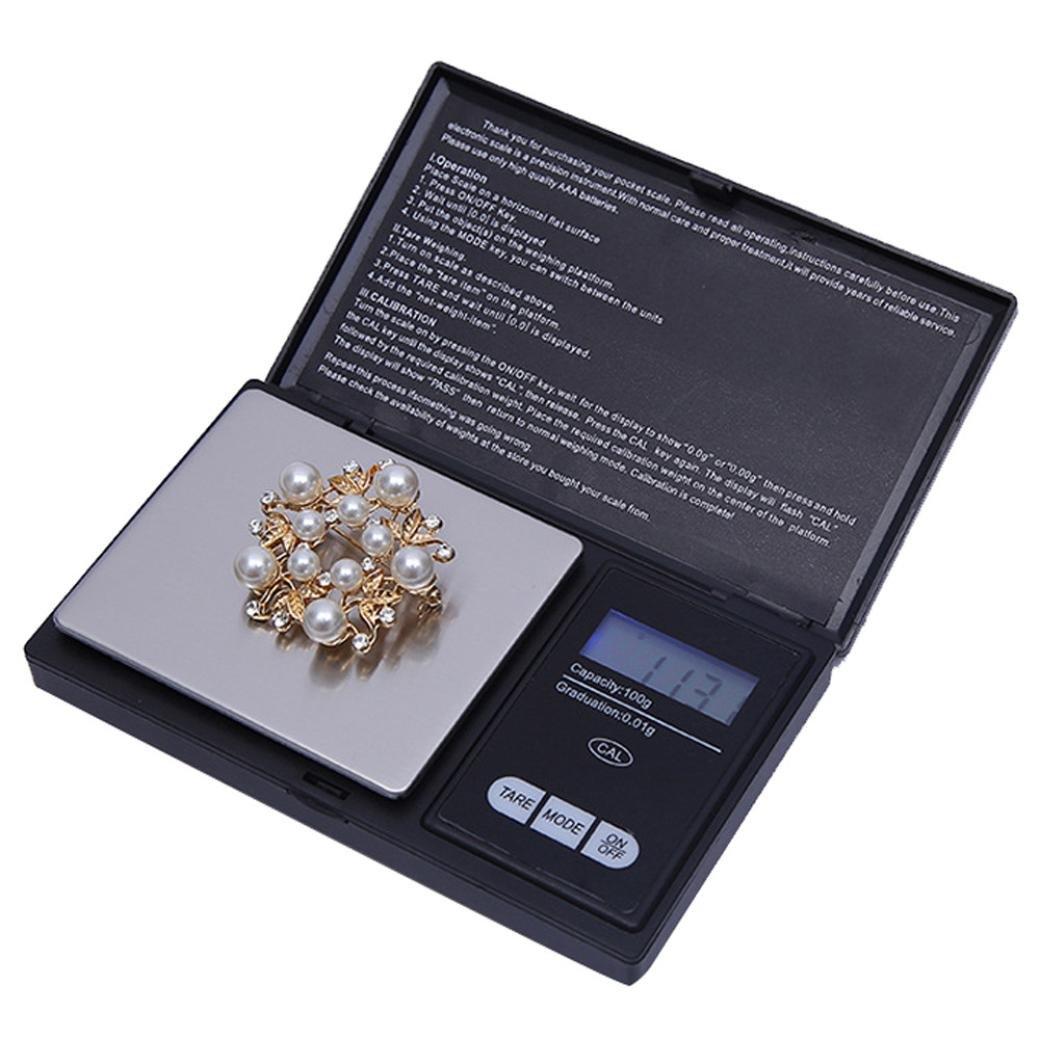 STRIR Balanzas Digitales de precisión, 100g/0.01g Balanzas de pesaje portátiles con Pantalla LCD, Plataforma de Peso de Acero Inoxidable para cocinar Cocina ...