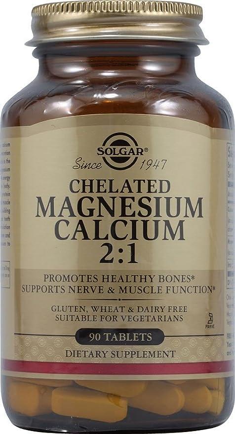Magnesio Calcio Quelado 2:1 90 comprimidos de Solgar