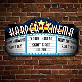 HomeWetBar Blockbuster Custom Home Theater Sign Perfect for Home Bars