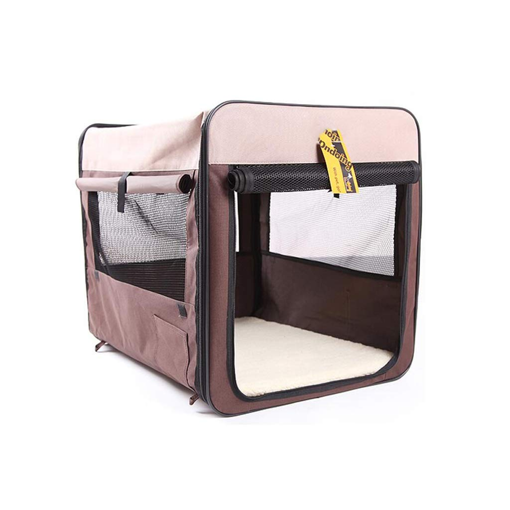 705252cm SN Dog Pet Playpen Tent, Waterproof Foldable Cat Car Kennel Cage For Indoor Outdoor (brown ) (Size   70  52  52cm)