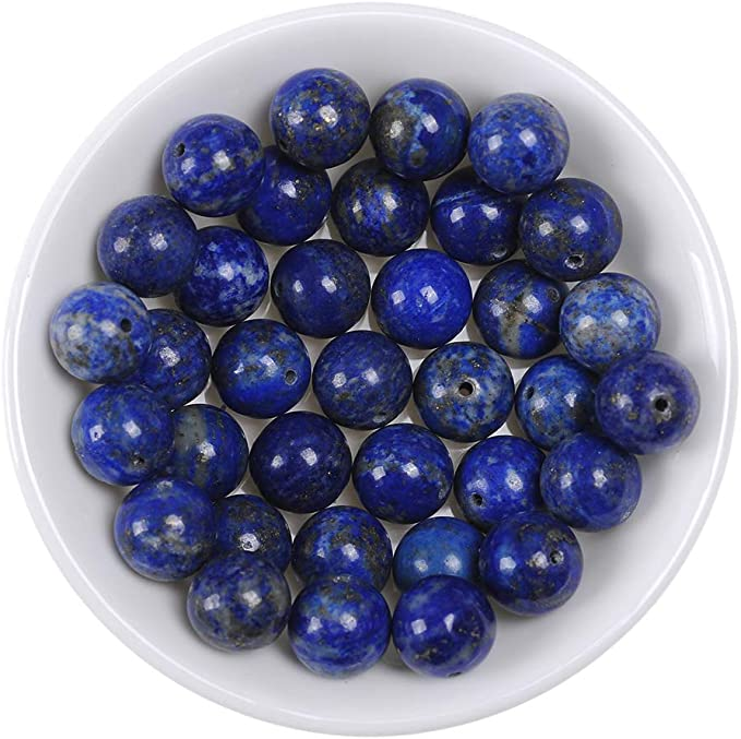 100/% Natural Lapis Lazuli Gemstone Tumbled Faceted Beads 8 Strand For Anklet Jewelry Making,