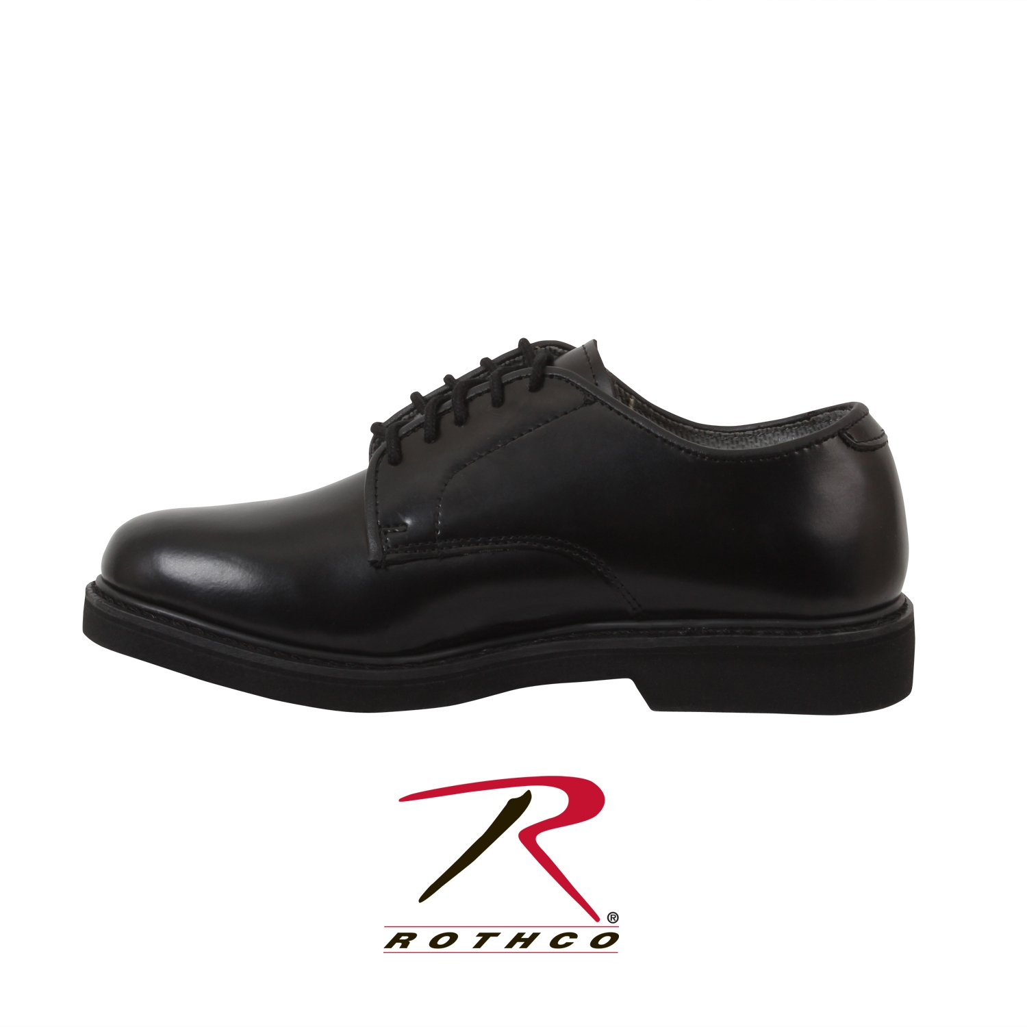 Rothco Soft Sole Uniform Oxford/Leather Shoe, Black, 6.5