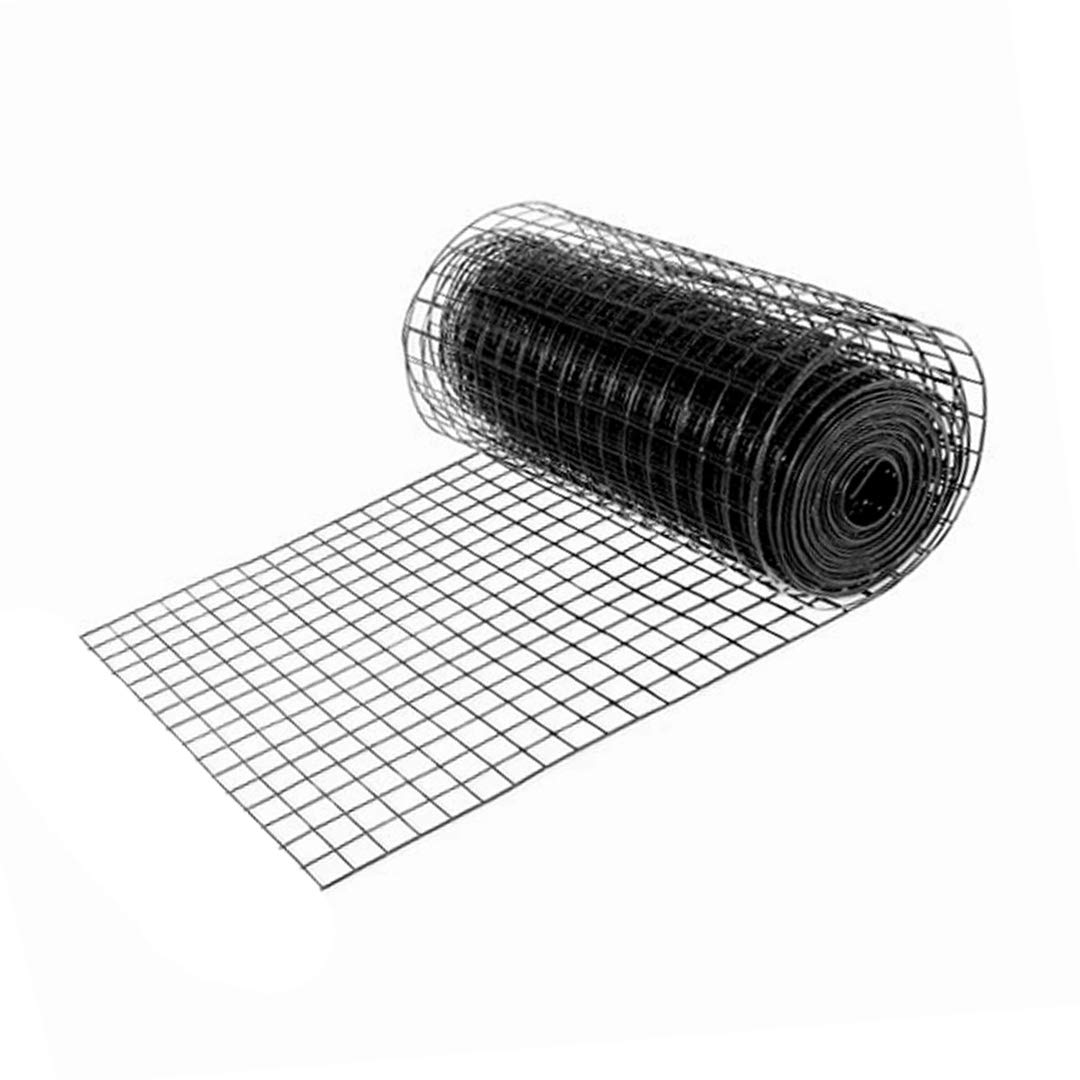 50 Feet, 24 Height - 16 Gauge - 1.7 x 1.7 Grid Perfect Fence Galvanized /& Black Coated Welded Wire
