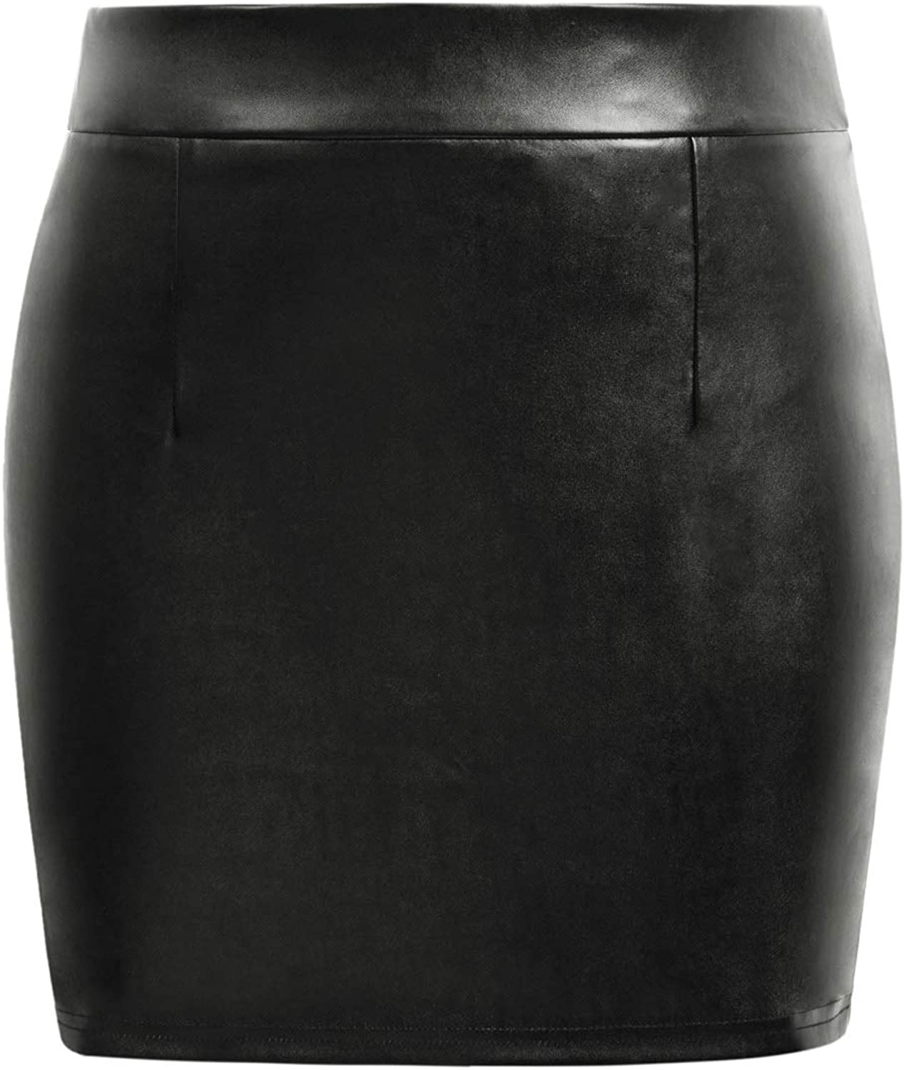 Kate Kasin Stretchy Shiny Metallic Mini Skirt for Women Nightout Wear