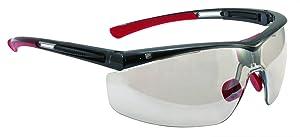 UVEX by Honeywell T5900LTKTCG North Adaptec Series Safety Eyewear Regular Black Frame I/O Mirror Lens, Uvextra Anti-Fog Coating