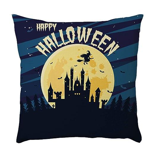 K-youth Fundas de cojínes para Sofa Vintage Halloween Lino ...