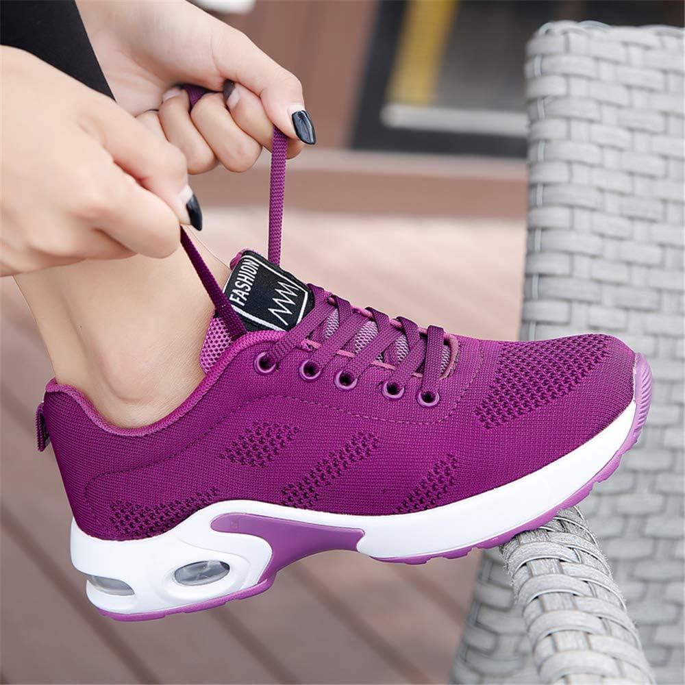 AARDIMI Chaussures de course légères en maille respirante pour femme Lilas