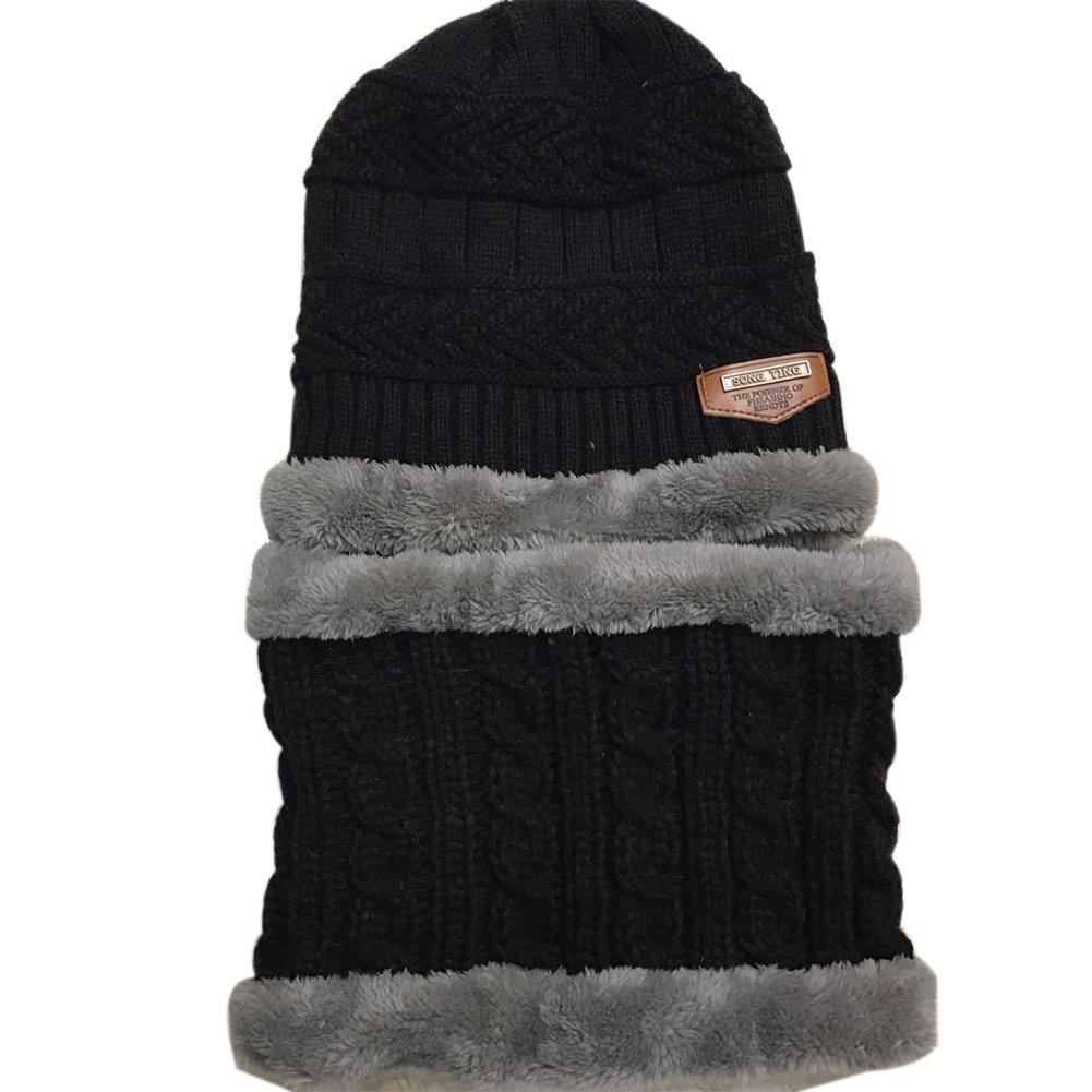 TININNA Inverno Caldo Addensare e plus cashmere Lavorata a maglia Sciarpa Cappello Berretto da sci Beanie Hat Sciarpa e Berretto set